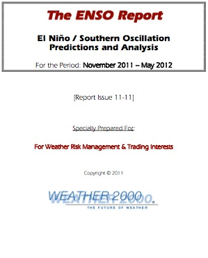 ENSO Report Title Page
