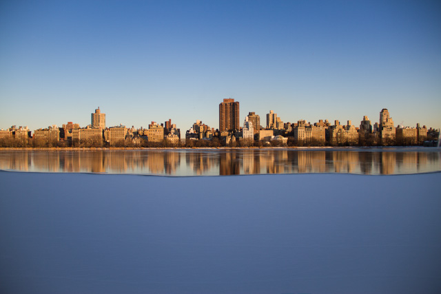 upper east side winter skyline
